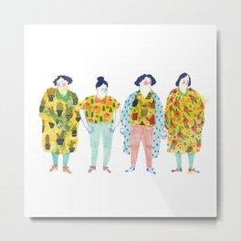 Ladies in yellow Metal Print