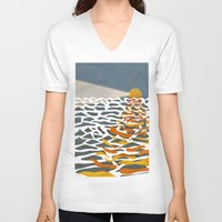 lighthouse V-neck T-shirts featuring lighthouse by gazonula