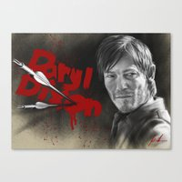 daryl dixon Canvas Prints featuring Daryl Dixon by TheJustArts