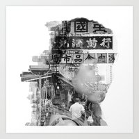 hong kong Art Prints featuring Hong Kong by Iris Chen