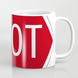 Spot Traffic sign Coffee Mug