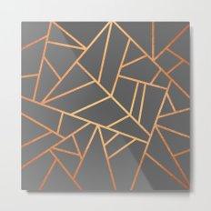 Copper And Grey Metal Print