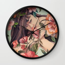 Steal Blossom Wall Clock