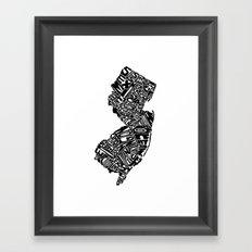 Typographic New Jersey Framed Art Print
