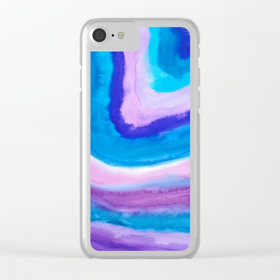 AGATE Inspired Watercolor Abstract 11 Clear iPhone Case