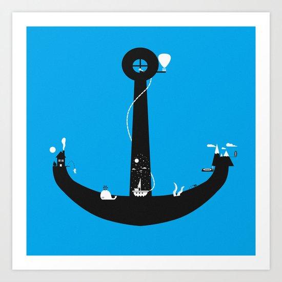 Adventure Is My Anchor Art Print