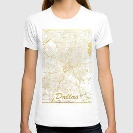 Dallas Map Gold T-shirt