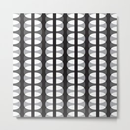 Geometric Pattern #186 (gray ovals) Metal Print