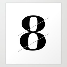 """""""Sliced Collection"""" - Minimal Number Eight Print Art Print"""