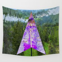 arya stark Wall Tapestries featuring Mt AB Stark by 4oh1 Productions