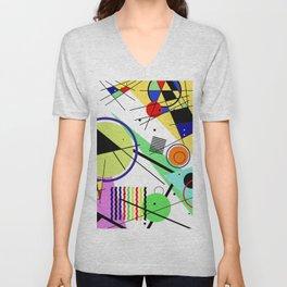 Retro Crazy - Abstract, random, crazy, geometric, colourful artwork Unisex V-Neck