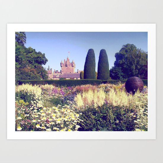 castle flowers II. Art Print