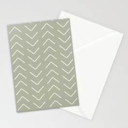 Mudcloth II (Linen Sage) Stationery Cards