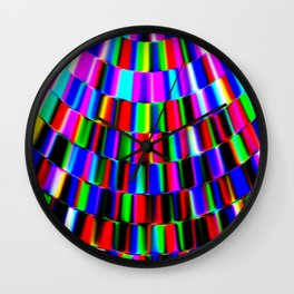 Violet Rays XIII Wall Clock