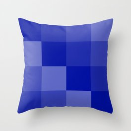 Four Shades of Blue Square Throw Pillow