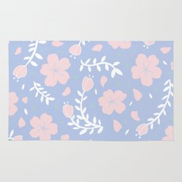 light sakura blossoms Rug