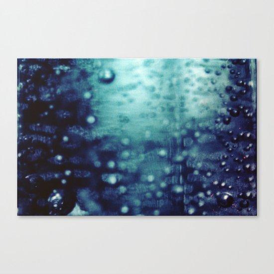 Bubbles Macro Canvas Print