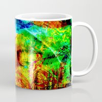 meditation Mugs featuring  Meditation by shiva camille