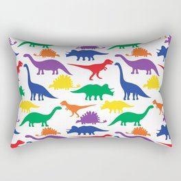 Dinosaurs - White Rectangular Pillow