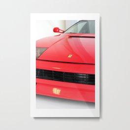 Ferrari Print by K Maono Metal Print