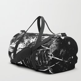 lost place rusty american car wreck splatter watercolor black white Duffle Bag