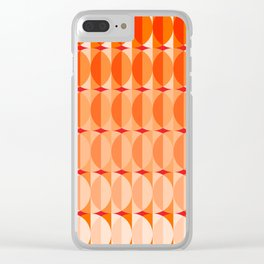 Leaves at sunset - a pattern in orange and red Clear iPhone Case