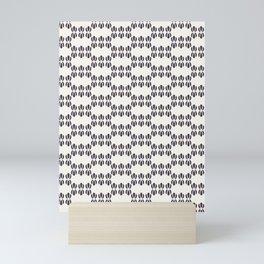 Seamless vector pattern. Abstract ethnic tribal waves scandi style. Mini Art Print