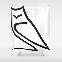 Vector Style Owl Shower Curtain