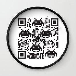 QR-SPACE Wall Clock