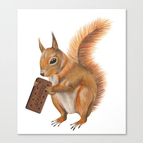 Super squirrel. Canvas Print