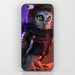 the Owlvengers - hawk eye owl iPhone Skin