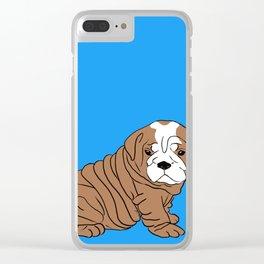 Bulldog Puppy Clear iPhone Case