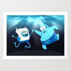 SpongeFinn AdventurePants Art Print