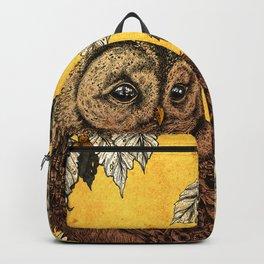 Tawny Owl Yellow Backpack