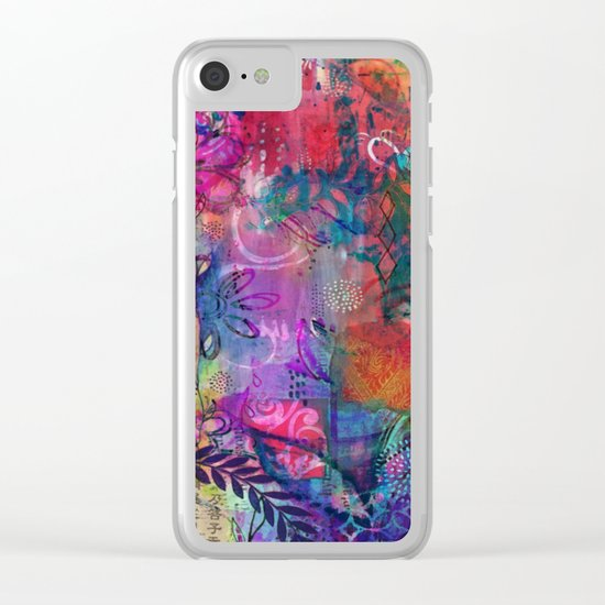 A Delicate Mess Clear iPhone Case