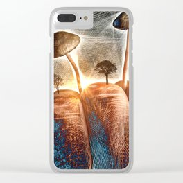 Mt. Shroom Clear iPhone Case
