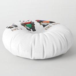Gamer Panda Dungeon RPG Tabletop funny gift Floor Pillow