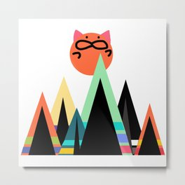 cat sunshine11 Metal Print