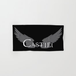 Castiel with Wings White Hand & Bath Towel