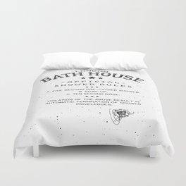 SHOWER RULES Duvet Cover