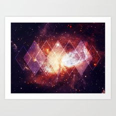 Shining Nebula - Red Art Print