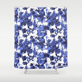 Indigo Floral Shower Curtain