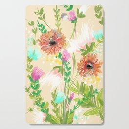 Peach Floral Cutting Board