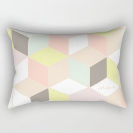 pastel cubes  Rectangular Pillow