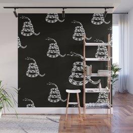 Gadsden Flag Pattern - B&W Wall Mural