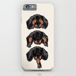 No Evil Dachshund iPhone Case