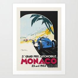 Formula 1 - 1933 Monaco Grand Prix Art Print