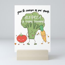 Vegetarian macarena Mini Art Print