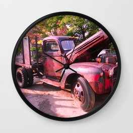 Rusty Ford Classic Antique Truck Wall Clock