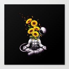 Meditation Astronaut Spring Canvas Print